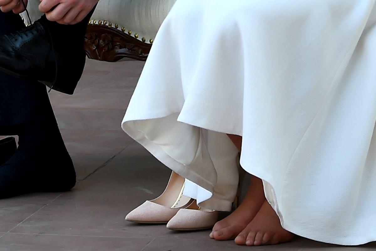 Imagen de los pies de la duquesa de Cambridge, Kate Middleton. (Getty)