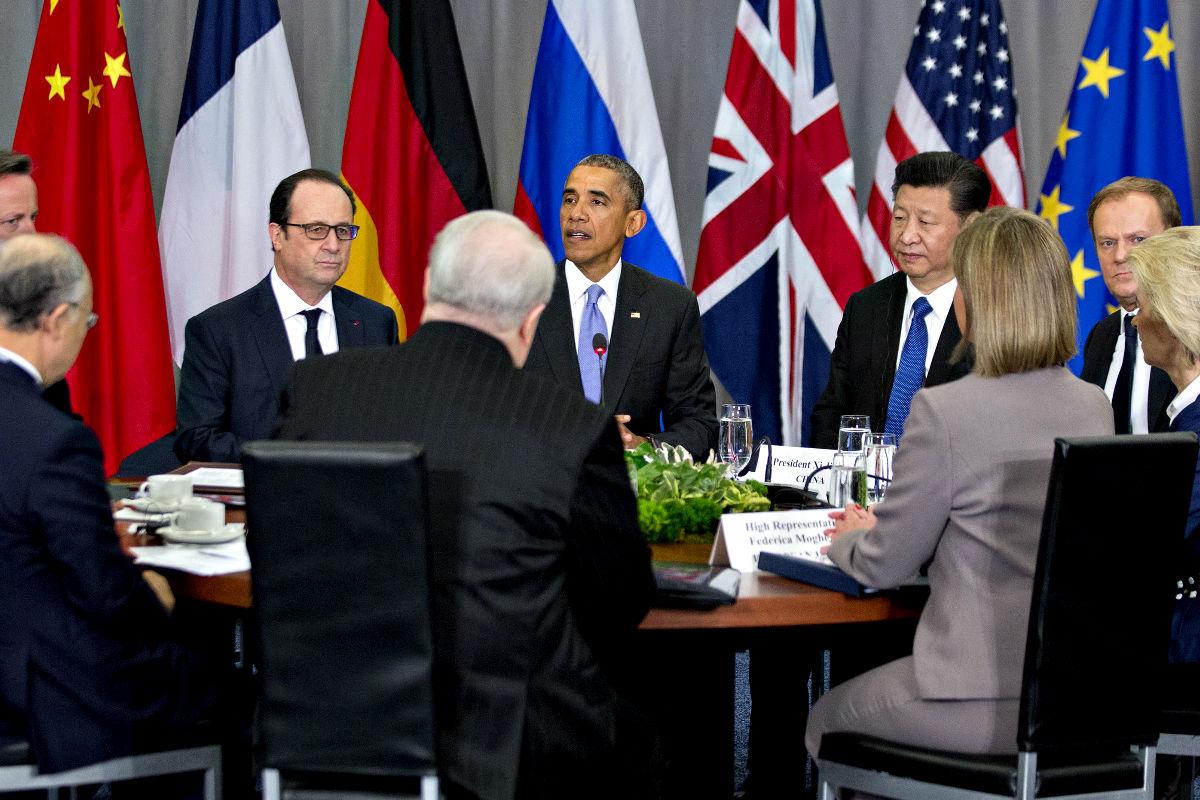 Los líderes mundiales reunidos en Washington. (Efe)