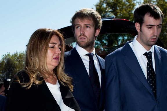 Laura y Miguel, hijos del matrimonio Boyer-Arnedo (Foto: Getty)
