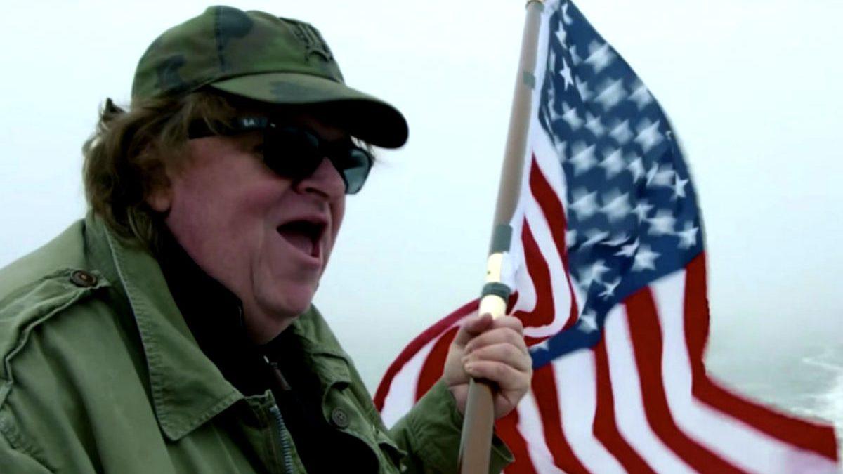 Imagen del director de cine norteamericano Michael Moore.