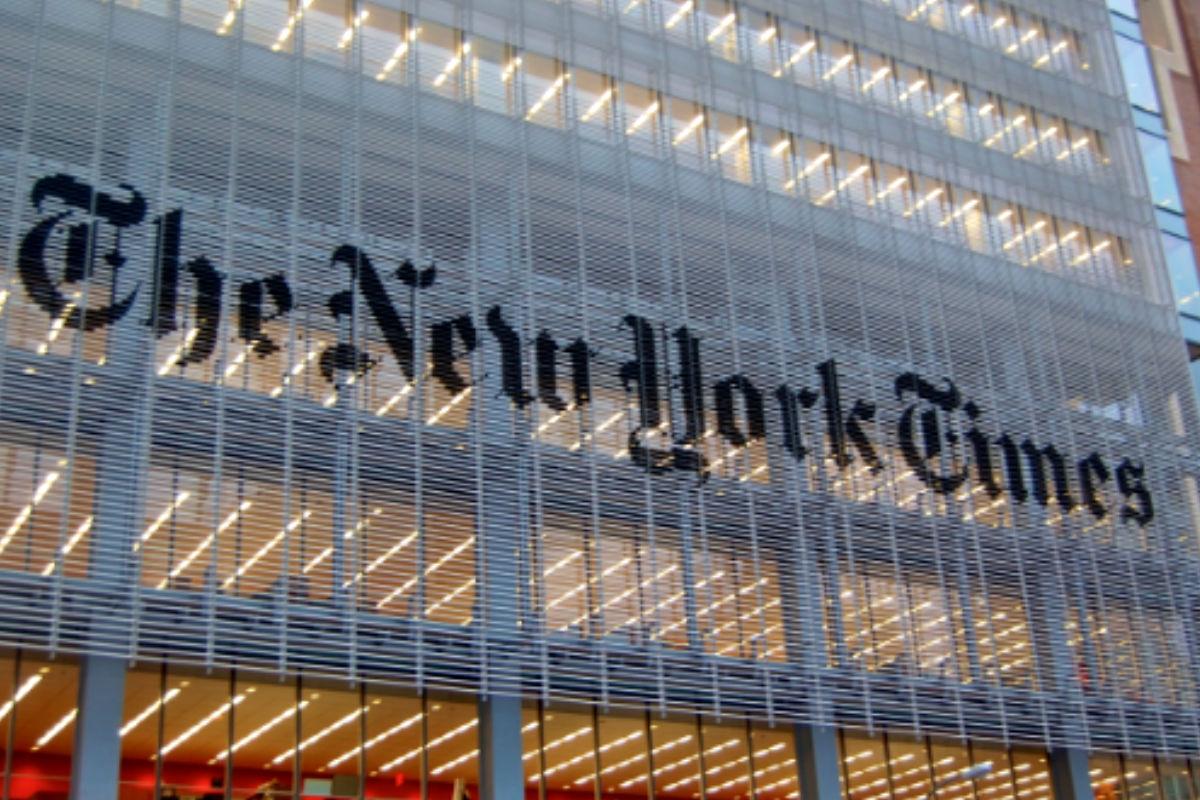 Imagen del edificio americano de 'The New York Times'.