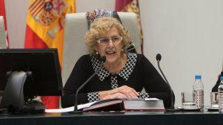 Carmena en el Pleno del Palacio de Cibeles. (Foto: Madrid)