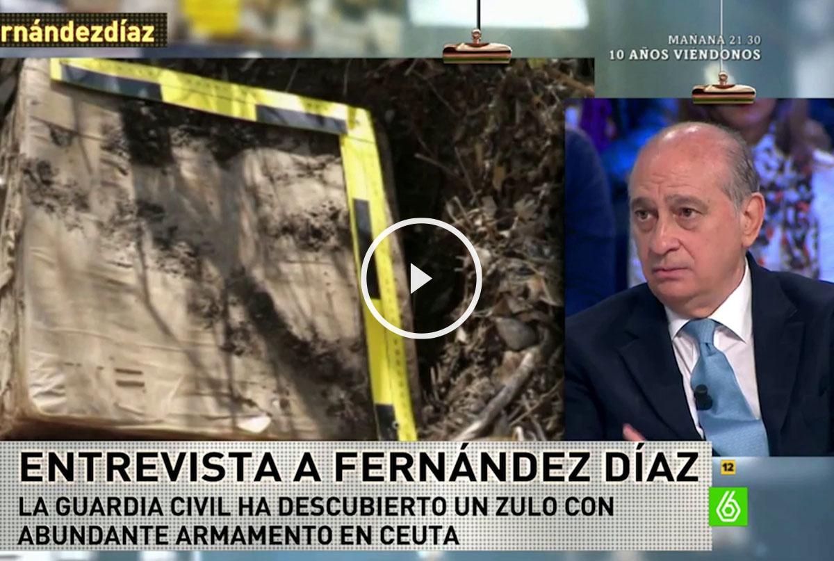 El ministro de Interior, Jorge Fernández Díaz, en La Sexta Noche