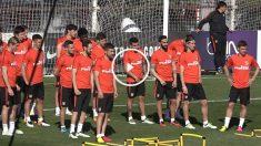 La plantilla del Atlético entrena pensando en el Bayern.
