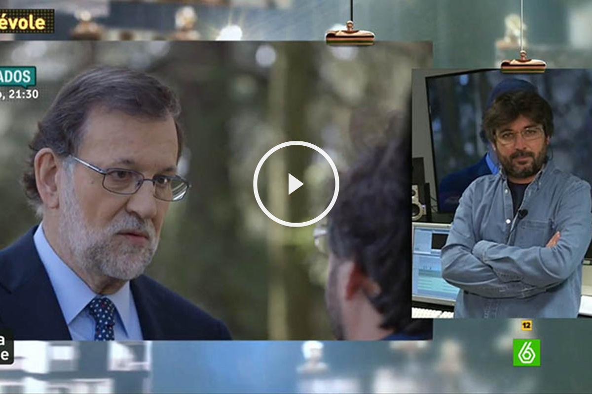 Jordi Évole y Mariano Rajoy, durante la entrevista.