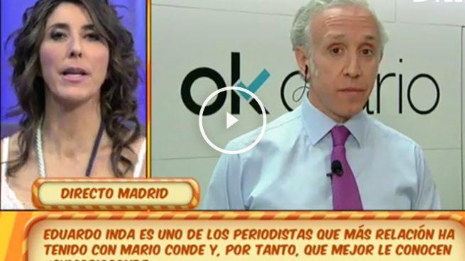Inda, en 'Sálvame': «El mayor enemigo de Mario Conde es Mario Conde»