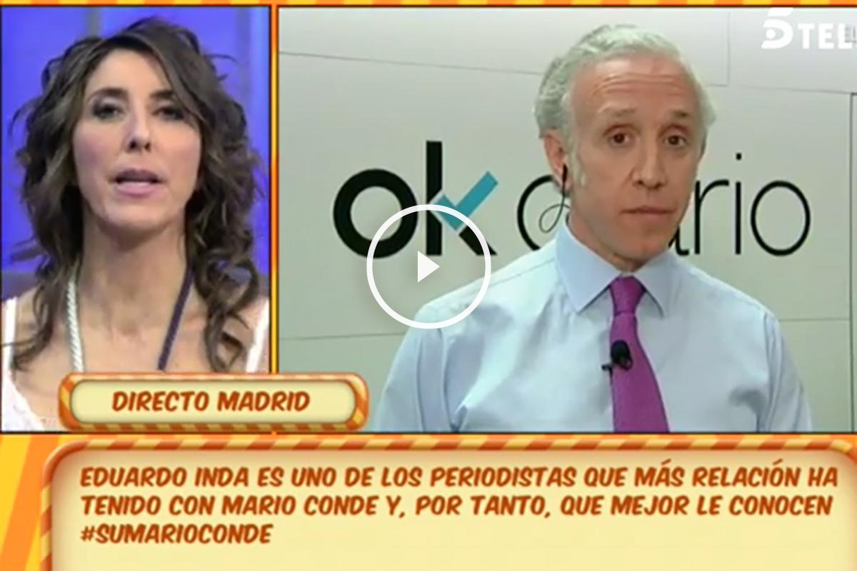 El director de OKDIARIO, Eduardo Inda, durante su entrevista en el programa de Sálvame.
