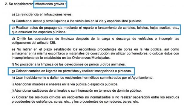 """Captura de la """"Ordenanza General de Protección del Medio Ambiente Urbano"""""""
