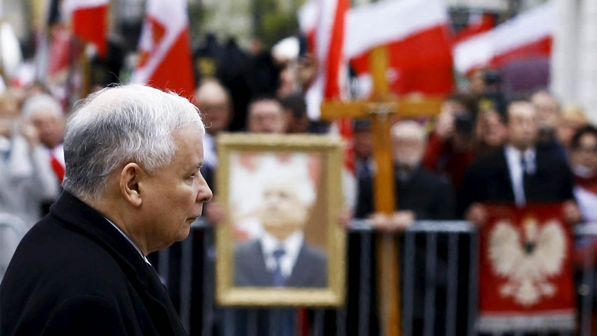 Jaroslaw Kaczynski, inspirador del actual gobierno polaco y enemigo declarado de Rusia (Foto: Reuters)