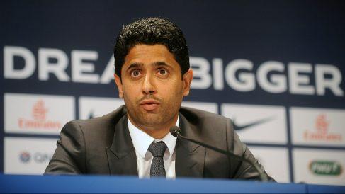 Nasser al-Khelaifi, propietario del Paris Saint Germain. (Getty)