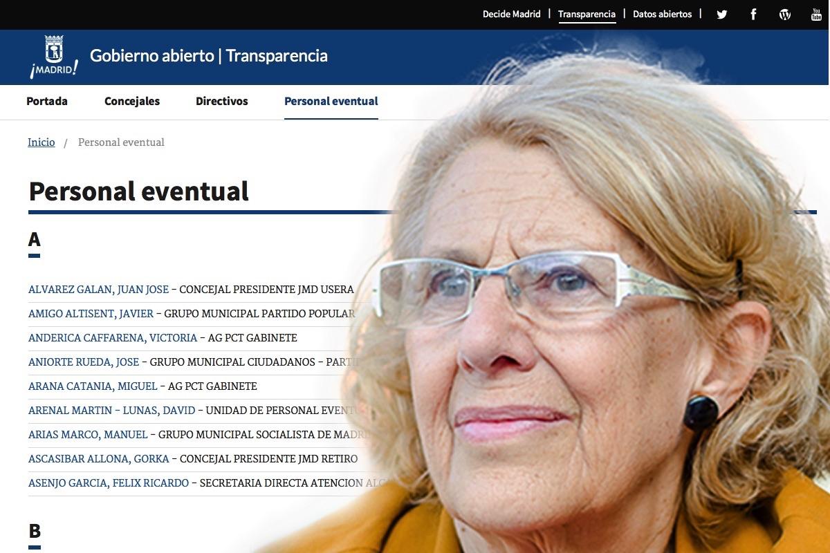 La alcaldesa apuesta por la transparencia con la Concejalía de Pablo Soto. (Foto: EFE)