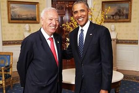 García-Margallo y Barack Obama en la Casa Blanca (Foto: Embajada española en EE UU)