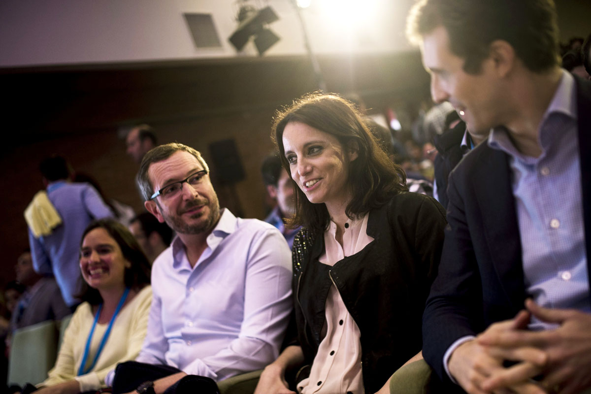 Javier Maroto, durante la convención de NN GG en Córdoba (Foto: EFE)