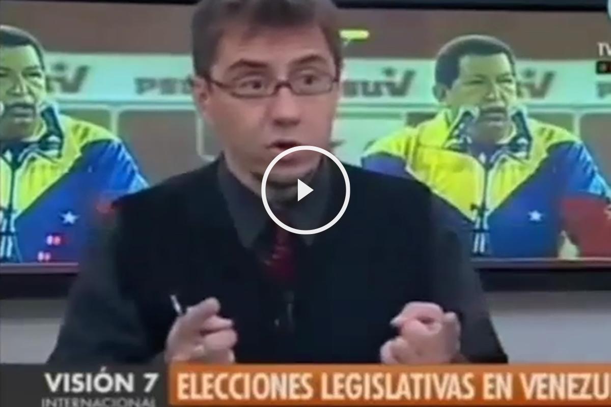 Juan Carlos Monedero en la televisión venezolana