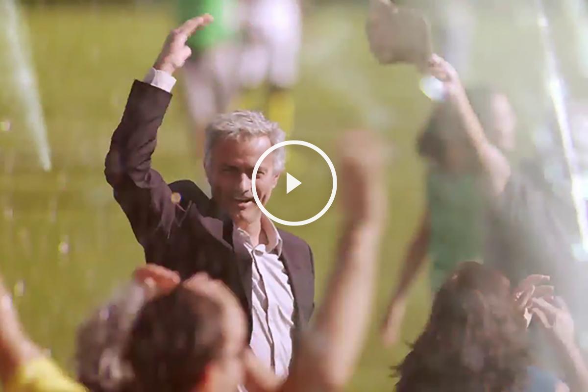 Mourinho, en su último anuncio.