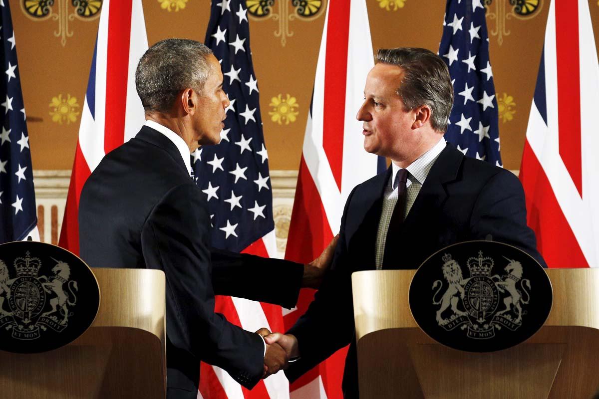 Barack Obama junto al primer ministro David Cameron (Foto: Reuters)