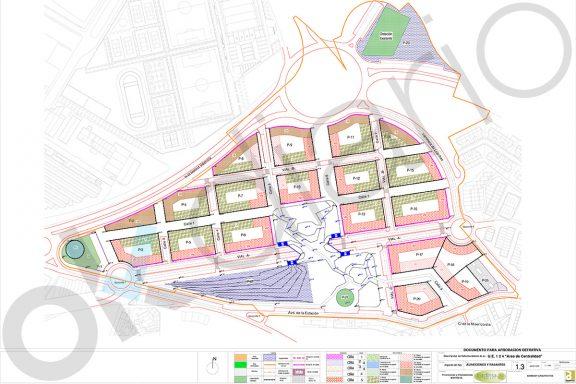 Plano de alturas de la Parcela UE-124 de Arganda del Rey (Imagen: OKDIARIO)