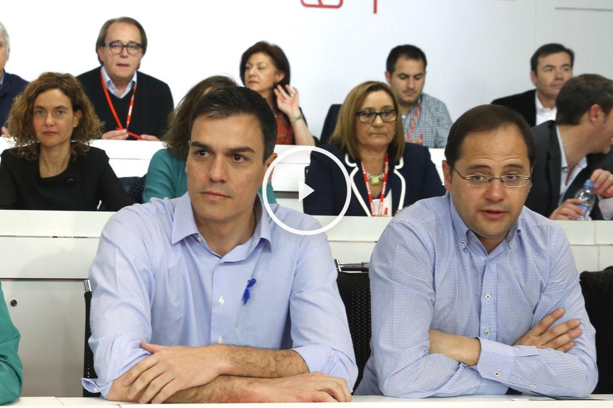 El secretario general del PSOE, Pedro Sánchez, durante la reunión del Comité Federal. (Foto: EFE)