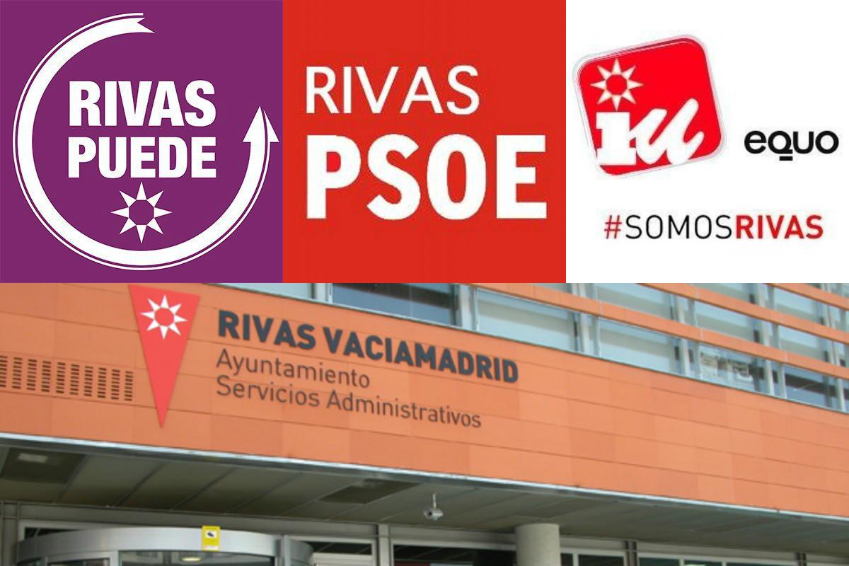 Los tres partidos de izquierda habían firmado un pacto tras las elecciones en Rivas.