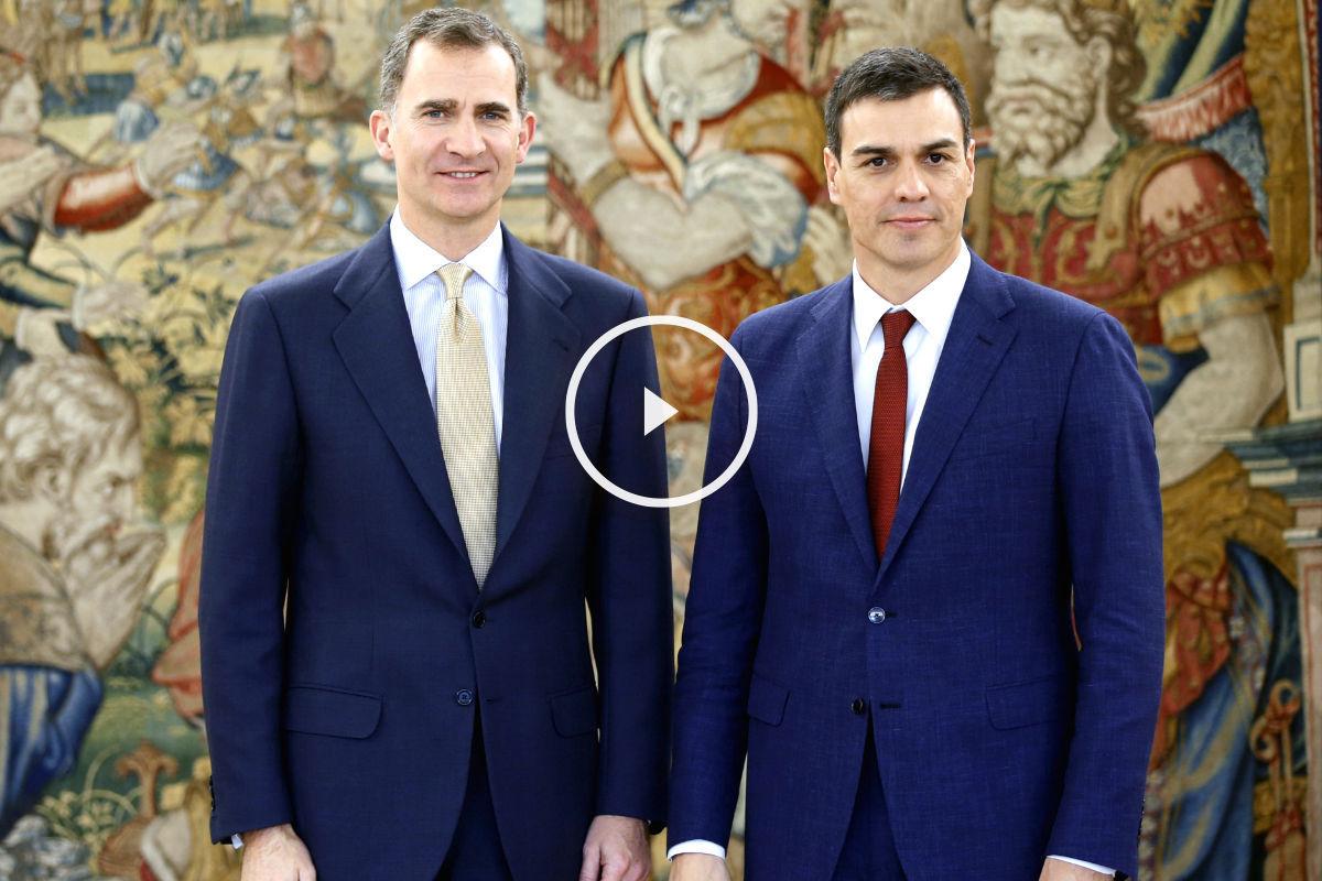 Pedro Sánchez con Felipe VI durante la tercera ronda de consultas (FOTO:EFE)