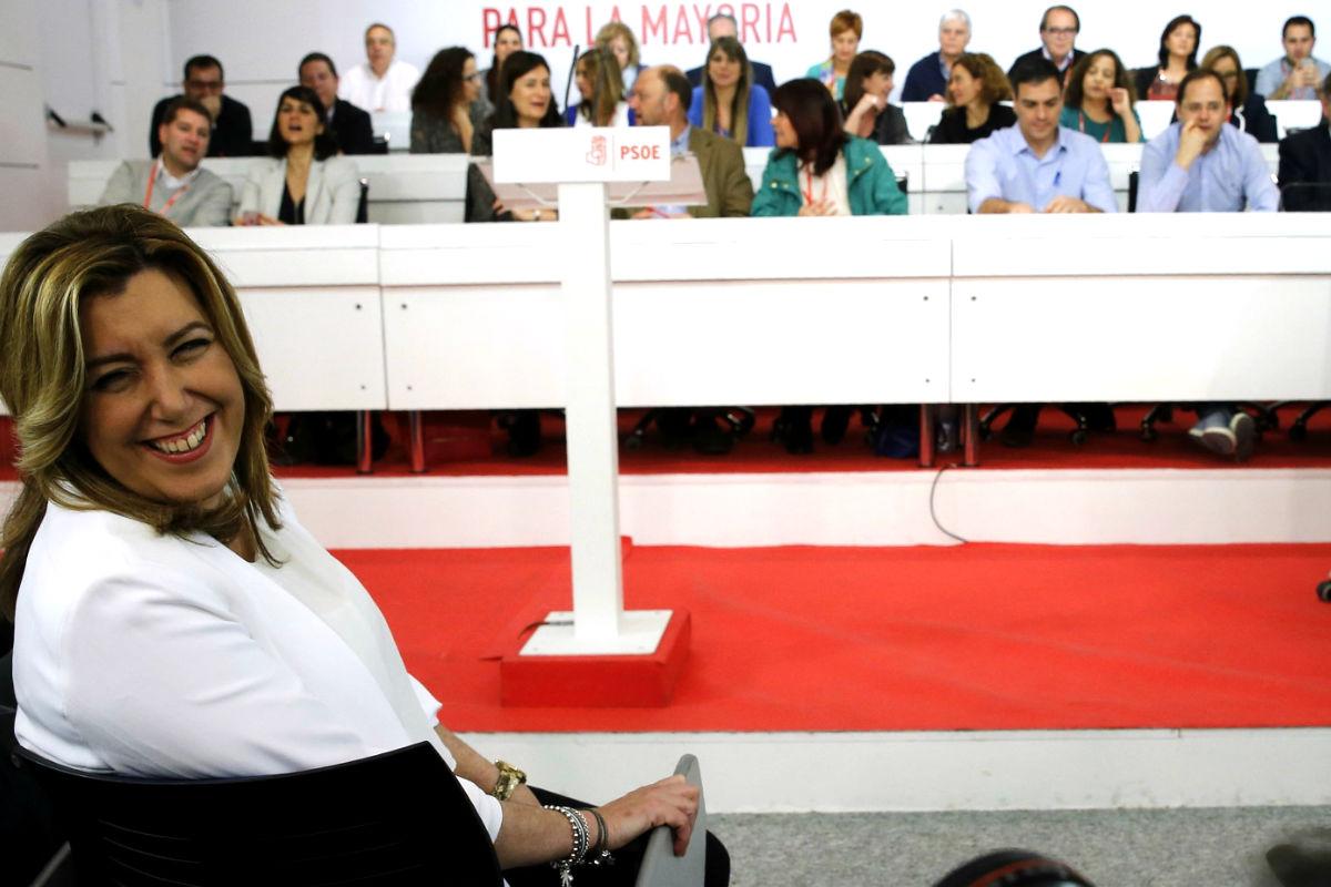 Susana Díaz, hoy en el Comité Federal del PSOE (Foto: EFE)