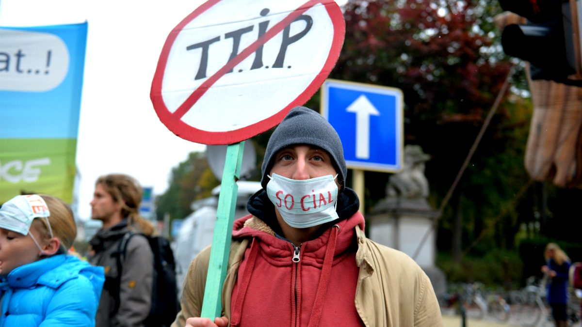Protestas contra el TTIP en Bruselas (Foto: GETTY).