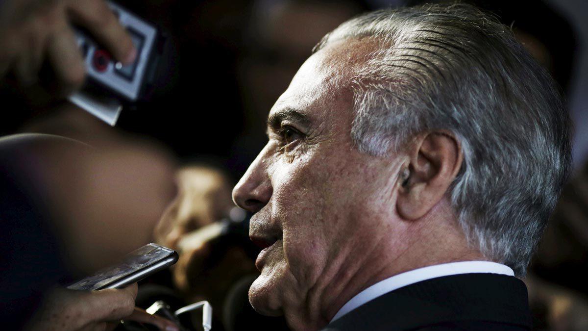 Michel Temer, actual presidente de Brasil (Foto: Reuters)
