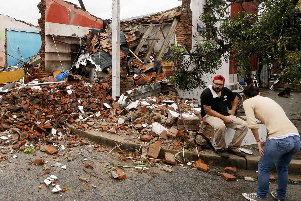 Daños causados por el temporal en Uruguay (Foto: Reuters)