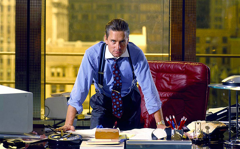 Fotograma de la película Wall Street (1987).