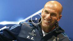 Zidane, en la rueda de prensa previa al duelo ante la Roma. (Reuters)