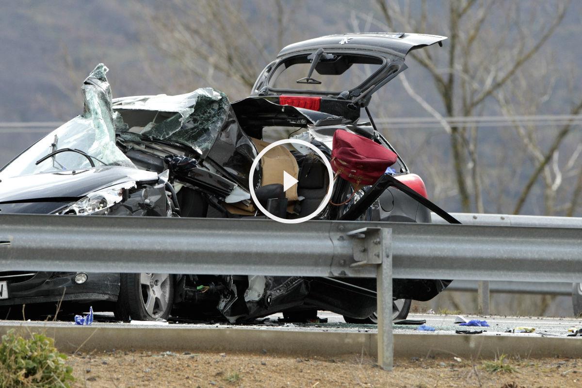 Imagen de uno de los accidentes que han tenido lugar en el mes de marzo de 2016  en España. (Efe)