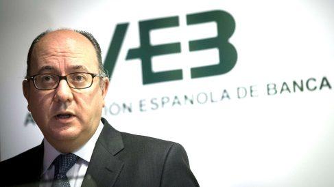 El presidente de la Asociación Española de Banca (AEB), José María Roldán. (Foto: EFE)