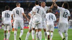 Los jugadores del Real Madrid celebrando un gol