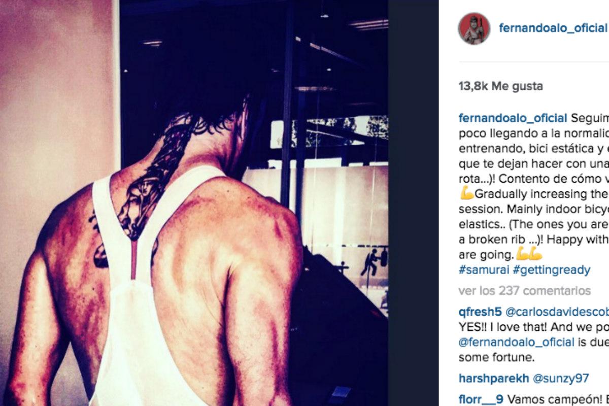 Captura del instagram de Alonso.