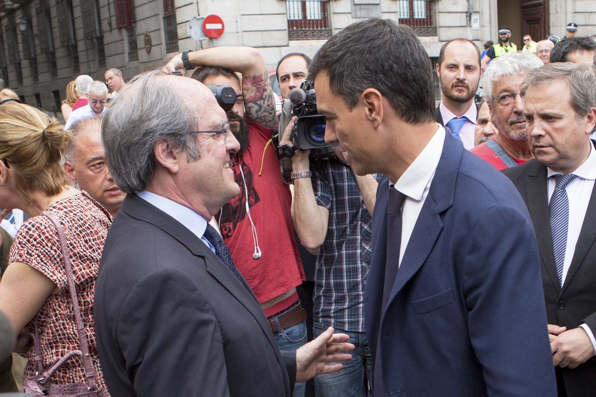 Ángel Gabilondo y Pedro Sánchez. (Foto: Getty)