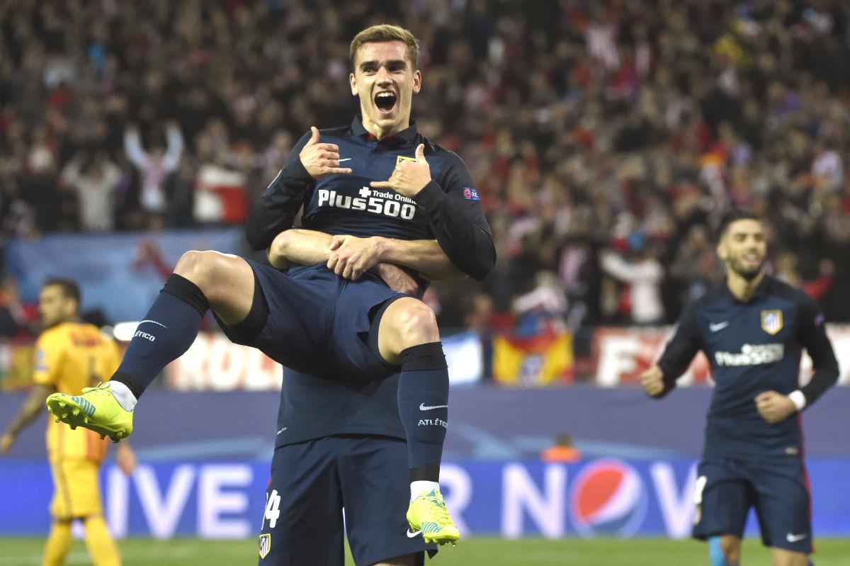 Griezmann celebra el 1-0 ante el Barcelona. (AFP)