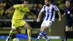 Illarra, en un partido con la Real en El Madrigal. (AFP)