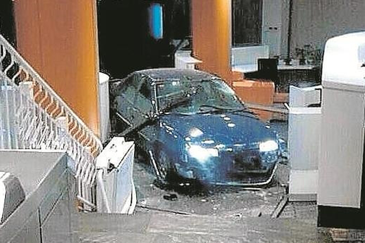 Daniel Pérez Berlanga fue detenido tras estrellar su coche en Génova 13.