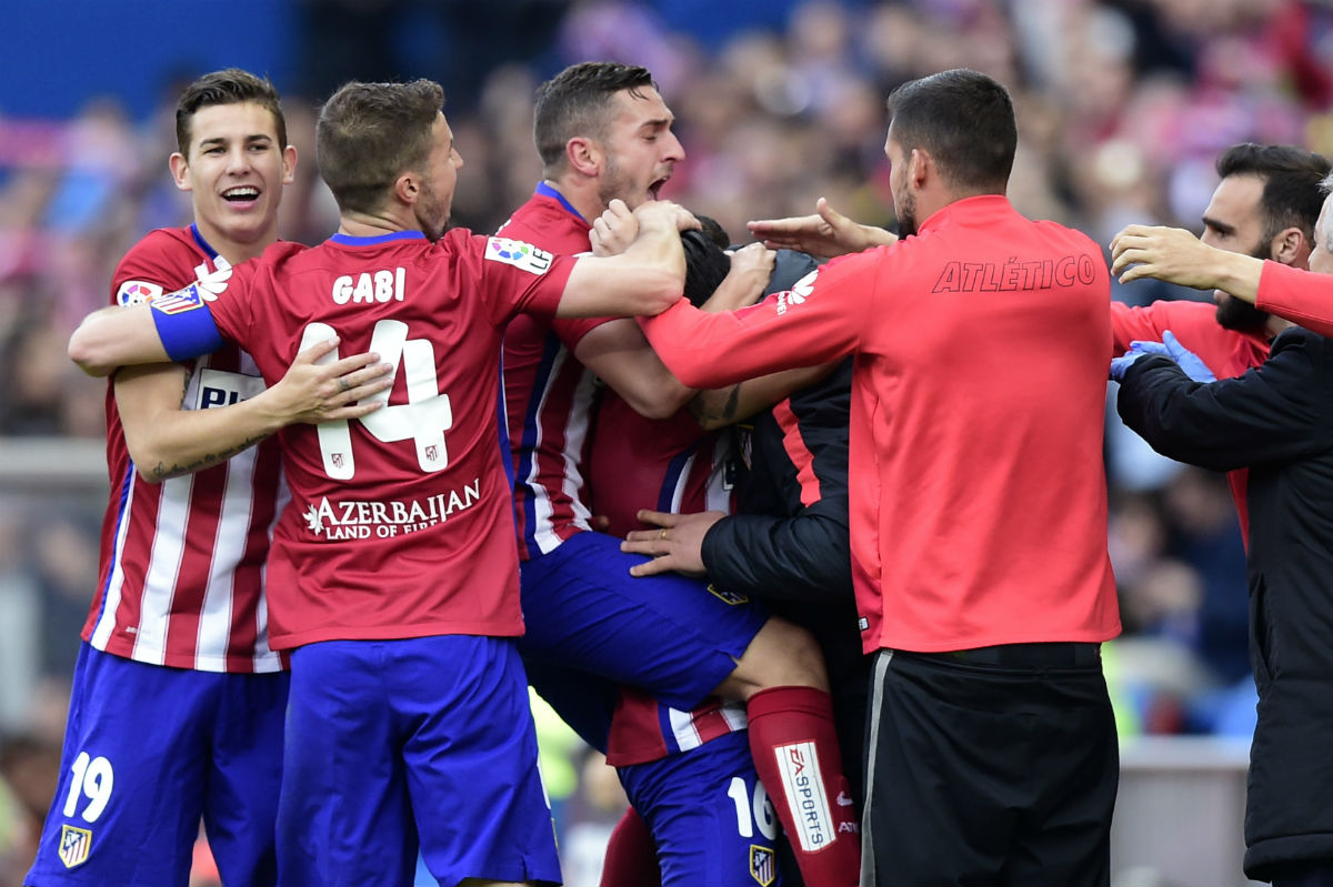 El Atlético venció al Málaga en el Calderón. (AFP)