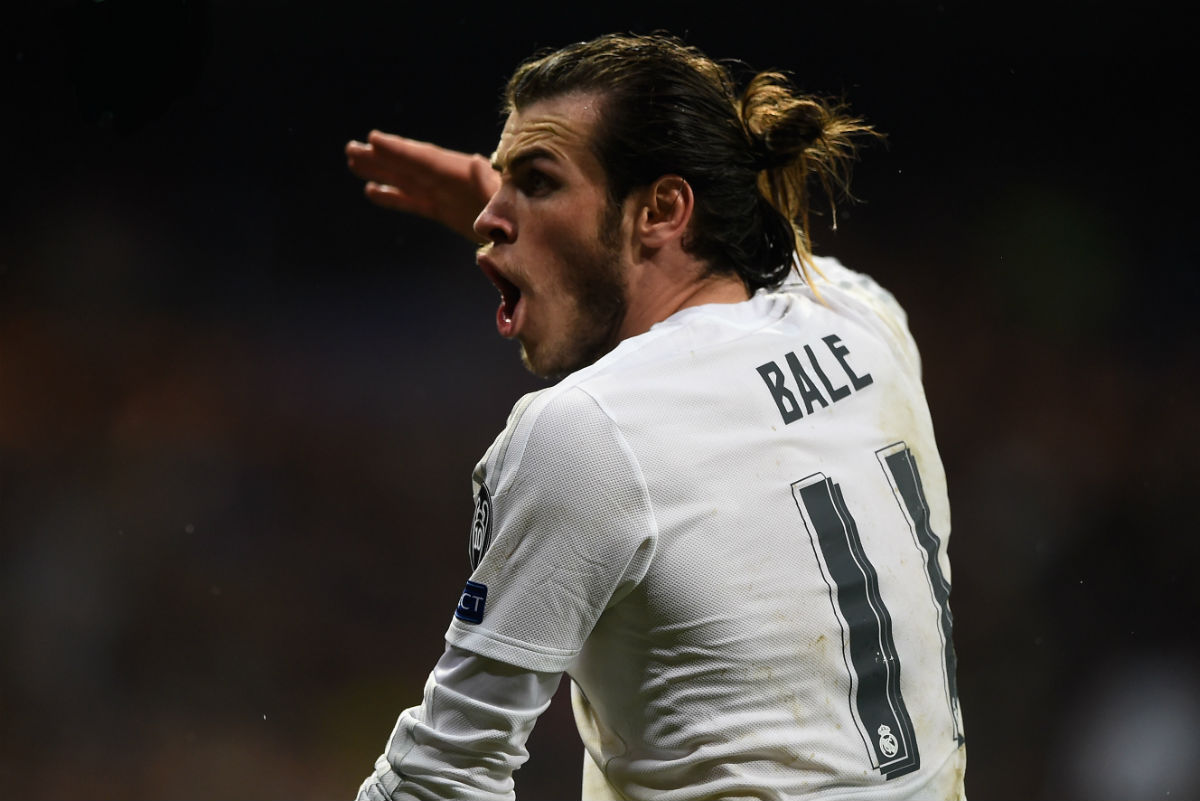 Bale, en un partido del Real Madrid de esta temporada. (Getty)