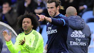Bale celebra el gol contra la Real Sociedad. (AFP)