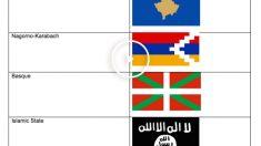 Lista de banderas vetadas en Eurovisión. (Foto: Eurovisión)