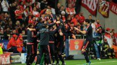 El Bayern de Múnich celebra el segundo de sus goles.