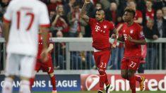 Arturo Vidal marcó el gol del triunfo del Bayern. (AFP)