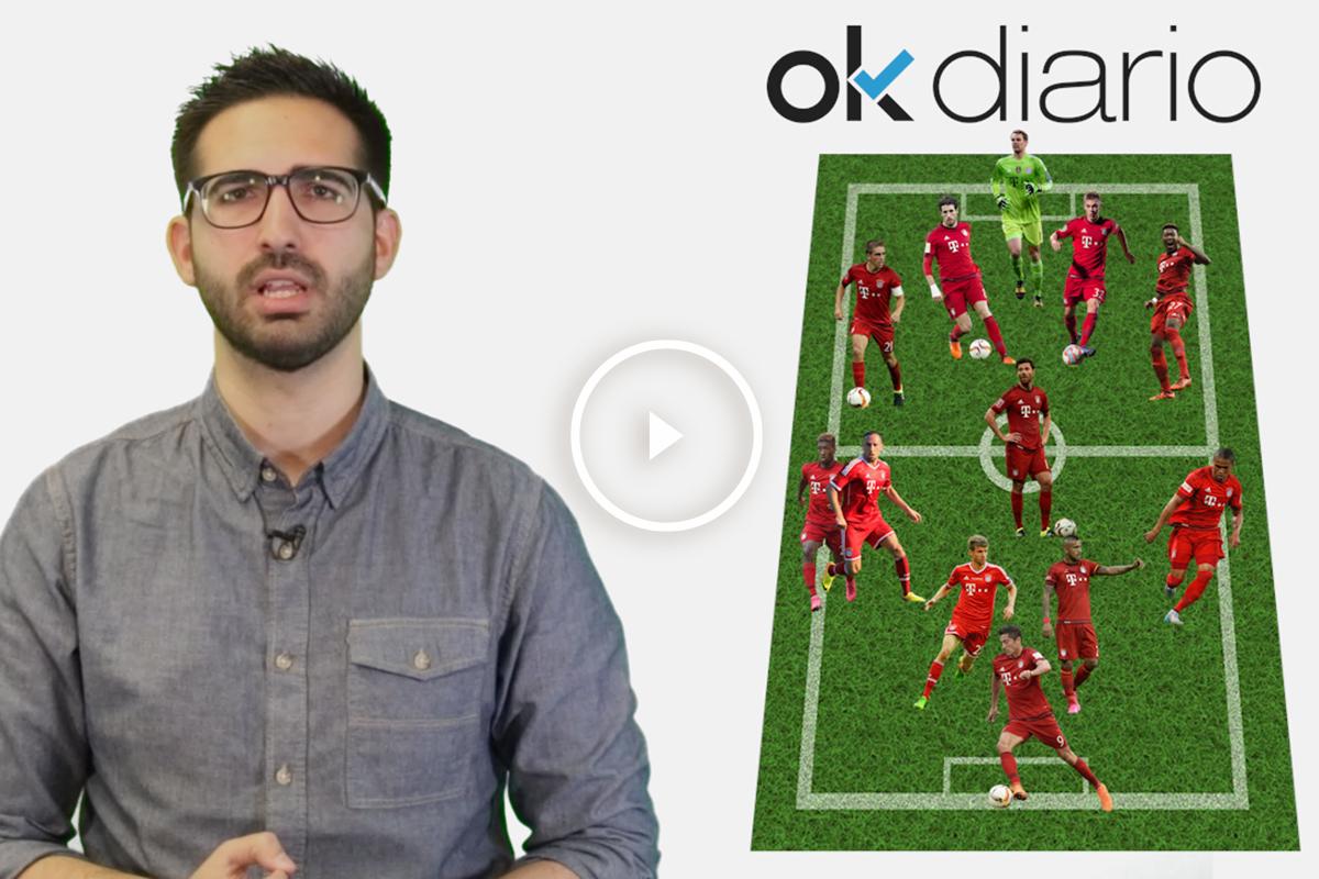 Atlético Vs Bayern: analizamos la alineación de los de Guardiola.