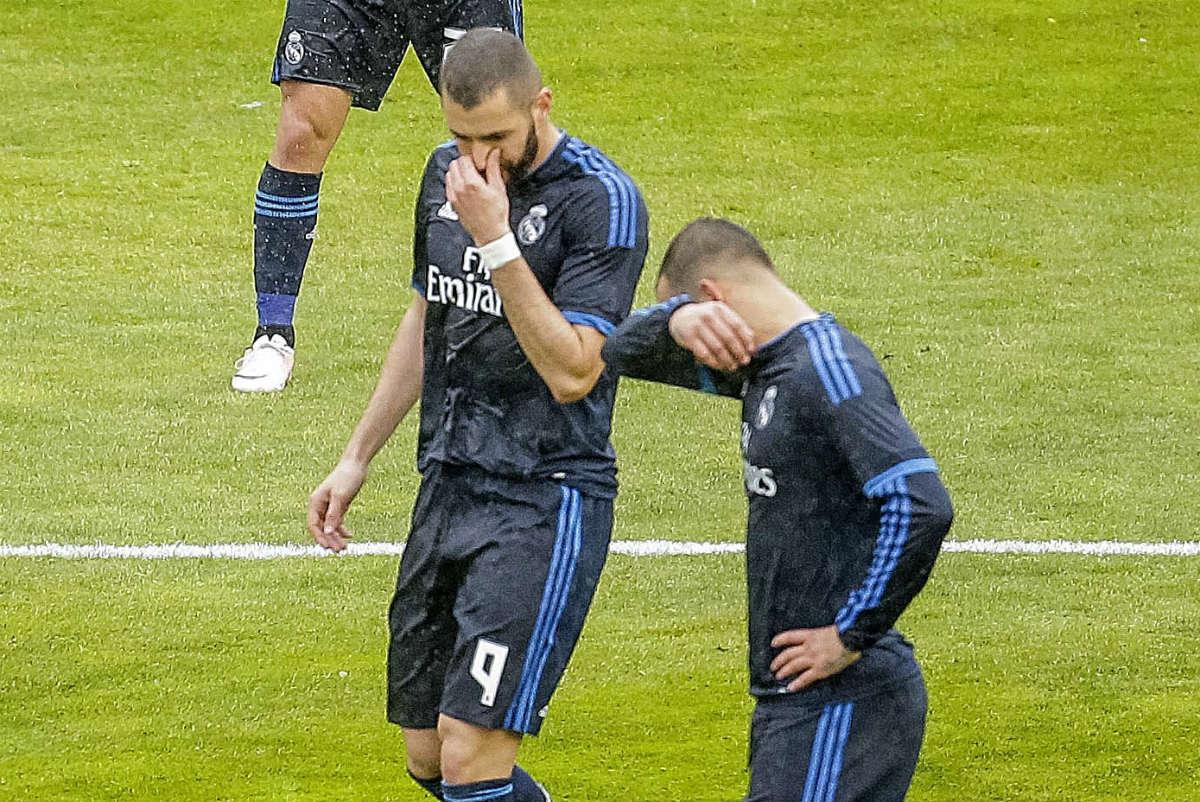 Benzema se lesionó en Vallecas. (EFE)