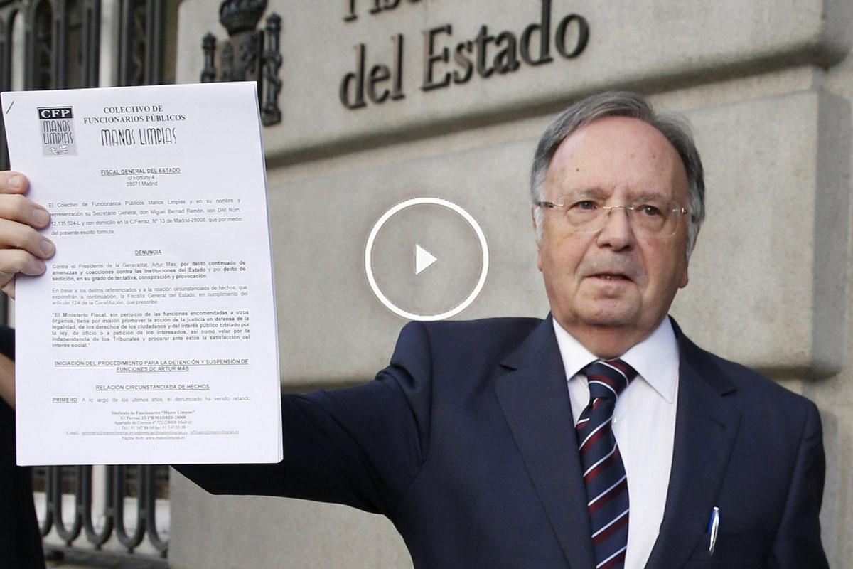 El presidente de Manos Limpias, Miguel Bernad. (Foto: EFE)