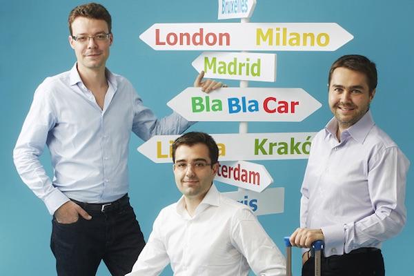 Los fundadores de BlaBlaCar: Francis Nappez, Nicolas Brusson y Frédéric Mazzella (Foto: BLABLACAR).