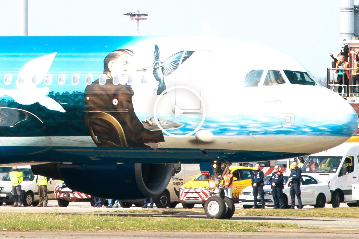 Imagen del avión antes de despegar con destino a Faro (Foto: AFP).