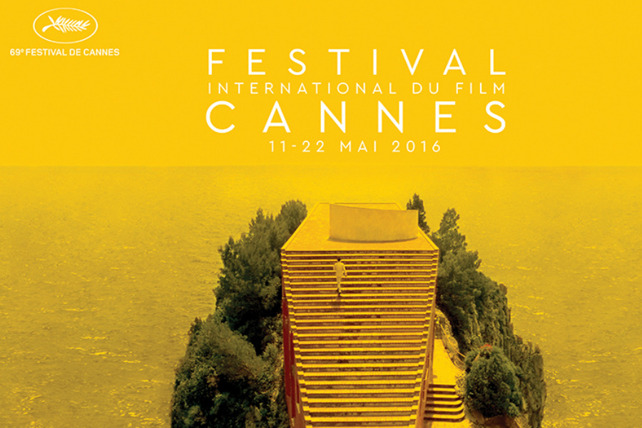 Este es el cartel oficial de la 69 edición del Festival de Cine Internacional de Cannes.